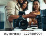 professional dslr camera and... | Shutterstock . vector #1229889004