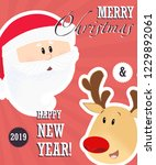 merry christmas and happy new... | Shutterstock .eps vector #1229892061