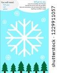 christmas winter craft activity ... | Shutterstock .eps vector #1229911057