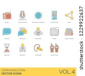 communication icons including... | Shutterstock .eps vector #1229922637