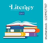 international literacy day... | Shutterstock . vector #1229927707