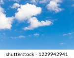 blue sky background and clouds... | Shutterstock . vector #1229942941