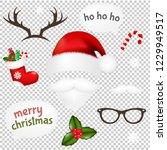 vintage christmas set... | Shutterstock .eps vector #1229949517