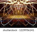 symmetrical colorful light...   Shutterstock . vector #1229956141
