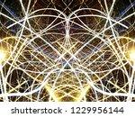 symmetrical colorful light...   Shutterstock . vector #1229956144