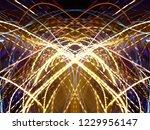 symmetrical colorful light...   Shutterstock . vector #1229956147