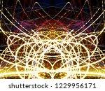 symmetrical colorful light...   Shutterstock . vector #1229956171