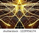 symmetrical colorful light...   Shutterstock . vector #1229956174