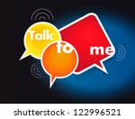talk me concept. vector   Shutterstock .eps vector #122996521