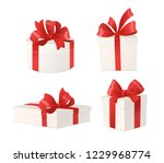 cartoon gift boxes with red... | Shutterstock .eps vector #1229968774