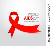 aids word day. 1st december the ... | Shutterstock .eps vector #1229973007