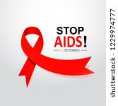 aids word day. 1st december the ... | Shutterstock .eps vector #1229974777