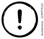 exclamation mark icon vector... | Shutterstock .eps vector #1229979121