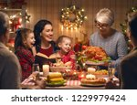 merry christmas  happy family... | Shutterstock . vector #1229979424