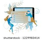concept of internet online... | Shutterstock .eps vector #1229983414