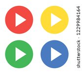 video start button. vector | Shutterstock .eps vector #1229984164
