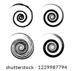 abstract vector spiral elements ... | Shutterstock .eps vector #1229987794