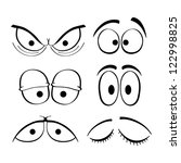 set of cartoon eyes. | Shutterstock .eps vector #122998825