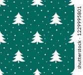 christmas trees winter pattern. ...   Shutterstock .eps vector #1229995801