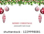 christmas background with fir... | Shutterstock .eps vector #1229998081