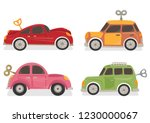 set of wind up car toys vector... | Shutterstock .eps vector #1230000067