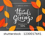 Thanksgiving Day Sale Banner...