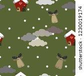 christmas seamless pattern for... | Shutterstock .eps vector #1230019174