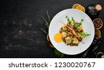 ravioli with shrimp and seafood.... | Shutterstock . vector #1230020767