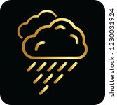 rain cloud golden icon for web... | Shutterstock .eps vector #1230031924