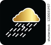 rain cloud golden icon for web... | Shutterstock .eps vector #1230031957