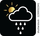 cloud rains and sun icon for... | Shutterstock .eps vector #1230032341