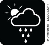 cloud rains and sun icon for... | Shutterstock .eps vector #1230032344