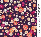 Cute Ditsy Floral On Deep...