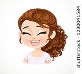 beautiful  happy cartoon... | Shutterstock .eps vector #1230041584