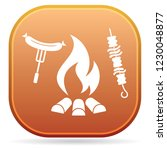 grilled kebab and sausage icon. ... | Shutterstock .eps vector #1230048877