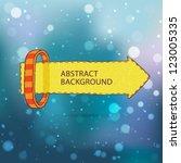 vector horizontal banner arrow... | Shutterstock .eps vector #123005335