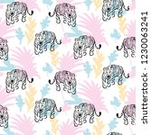 seamless pattern with roaring...   Shutterstock .eps vector #1230063241