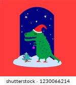 new year background cartoon... | Shutterstock .eps vector #1230066214