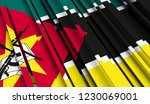 mozambique abstract flag of .... | Shutterstock . vector #1230069001