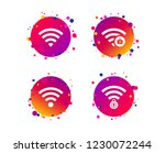wifi wireless network icons. wi ...   Shutterstock .eps vector #1230072244
