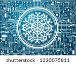 blue christmas chipset... | Shutterstock .eps vector #1230075811
