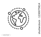 global network icon  tech... | Shutterstock .eps vector #1230075814