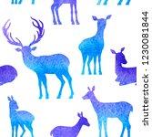 blue vector watercolor winter... | Shutterstock .eps vector #1230081844