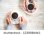 cup drink for breakfast in the... | Shutterstock . vector #1230086461