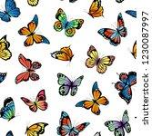 vector decorative butterflies... | Shutterstock .eps vector #1230087997