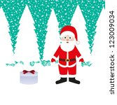 santa claus and gift | Shutterstock .eps vector #123009034