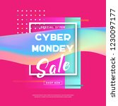 cyber monday concept banner in... | Shutterstock .eps vector #1230097177