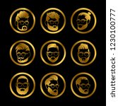 golden icons male heads....