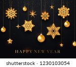 happy new year background with... | Shutterstock .eps vector #1230103054