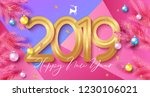 happy new year background with... | Shutterstock .eps vector #1230106021